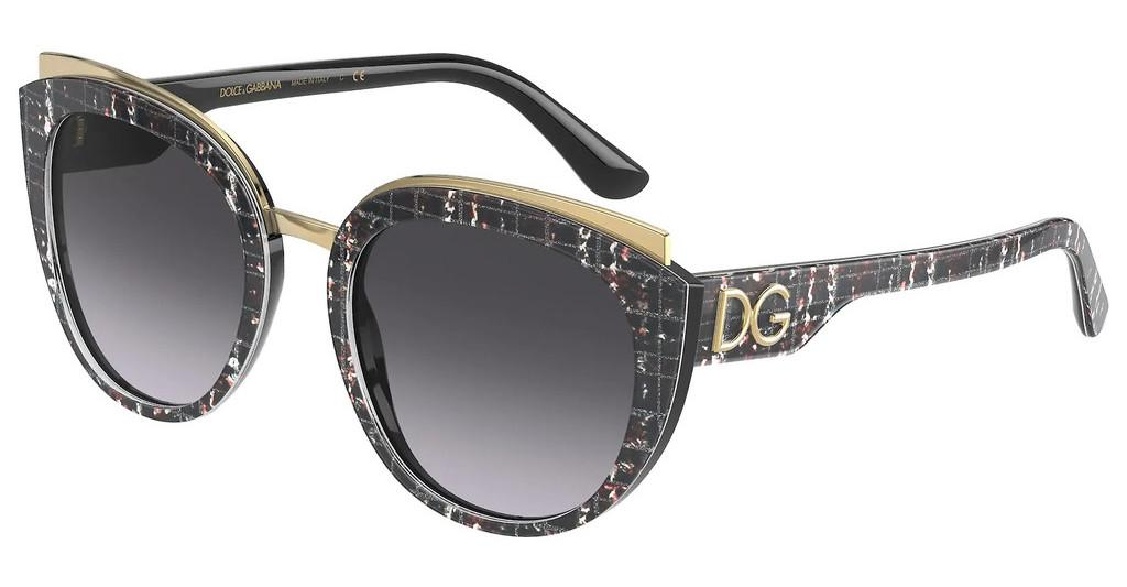 Dolce & Gabbana   DG4383 32868G LIGHT GREY GRADIENT BLACKPRINT BLACK TWEED