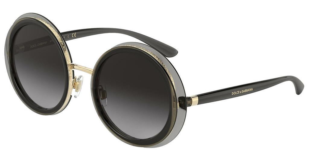 Dolce & Gabbana   DG6127 31608G LIGHT GREY GRADIENT BLACKTRANSPARENT GREY
