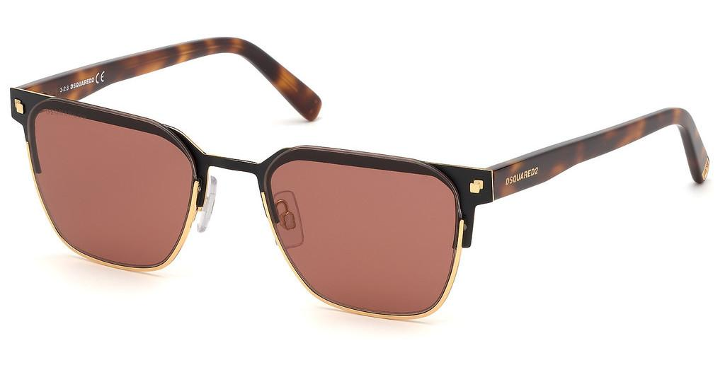 Dsquared   DQ0317 30S bordeauxtiefes gold glanz