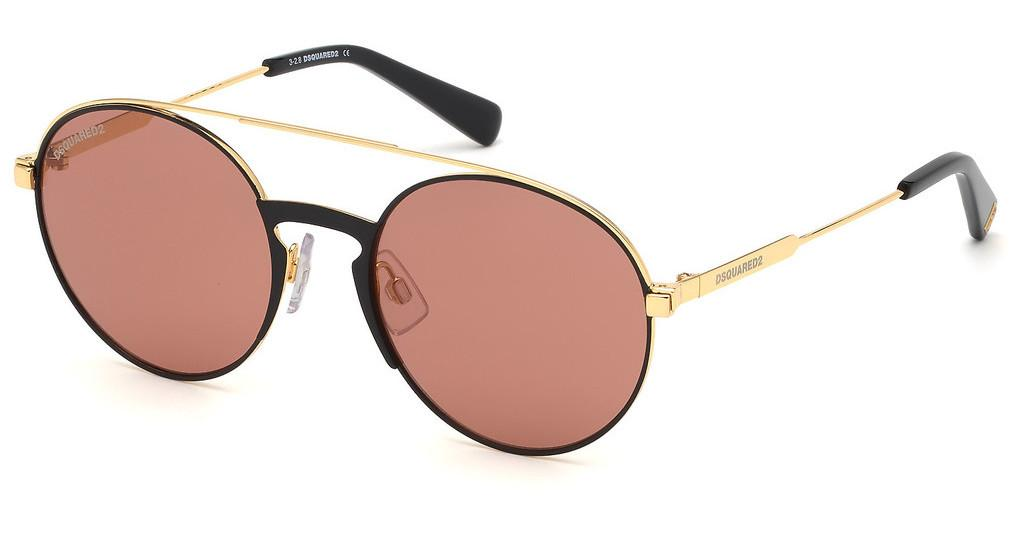 Dsquared   DQ0319 30S bordeauxtiefes gold glanz