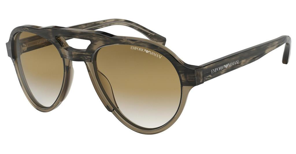 Emporio Armani   EA4128 574713 BROWN GRADIENTSTRIPED MUD