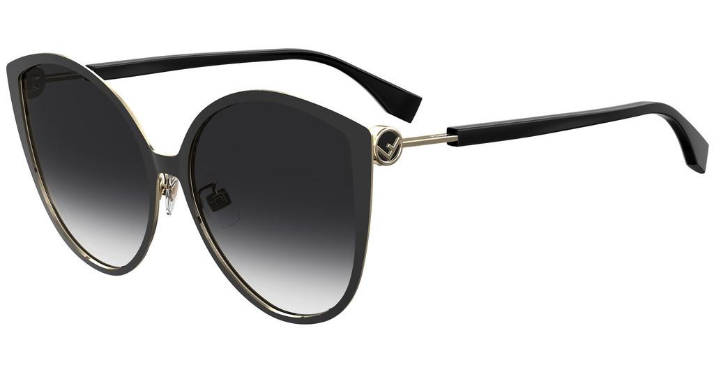 Fendi   FF 0395/F/S 2M2/9O DARK GREY SFBLK GOLD