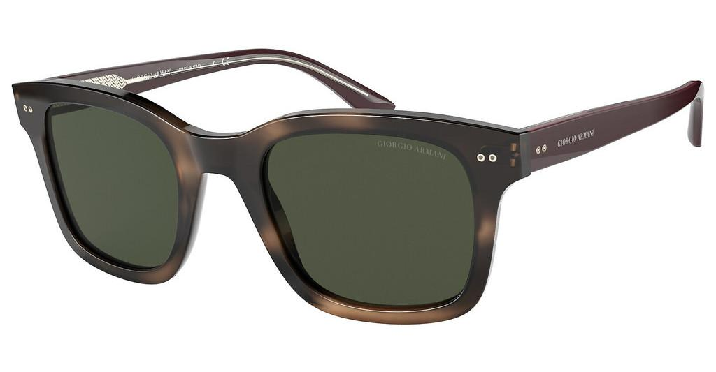 Giorgio Armani   AR8138 573431 GREENSTRIPED DARK BROWN