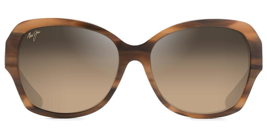 Maui Jim   Swaying Palms HS530-93 HCL BronzeBrown and Pearl w/ Yellow Gold