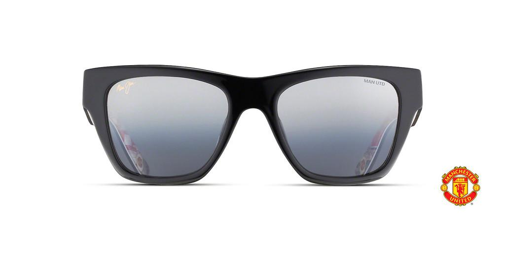 Maui Jim   Treble DSB832-36UTD Dual Mirror Silver to BlackBlack Gloss w/ Treble Collage Interior