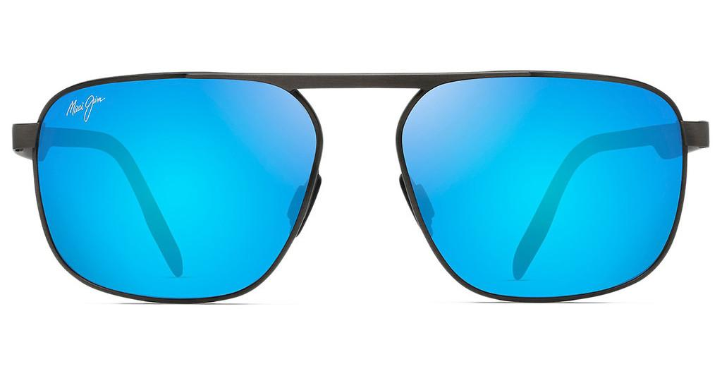 Maui Jim   Waihee Ridge B777-02C Blue HawaiiBrushed Dark Gunmetal
