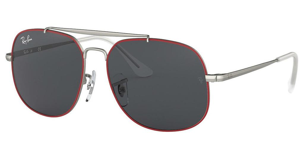 Ray-Ban Junior   RJ9561S 278/87 DARK GREYRUBBER RED ON SILVER