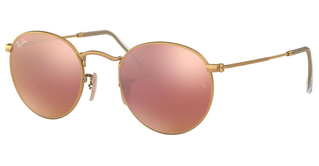 Ray-Ban   RB3447 112/Z2 BROWN MIRROR PINKMATTE GOLD