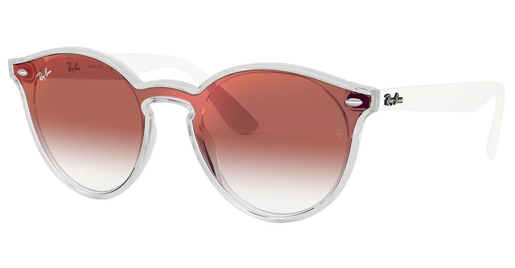 Ray-Ban   RB4380N 6357V0 CLEAR GRADIENT RED MIRROR REDMATTE TRASPARENT