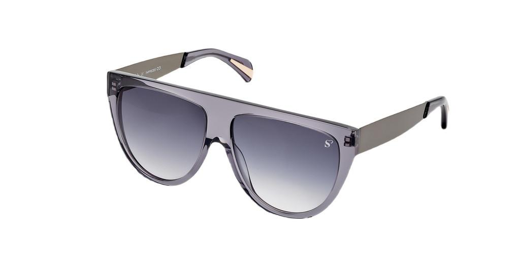 Sylvie Optics   Impress 3 grey gradientgrey-gun