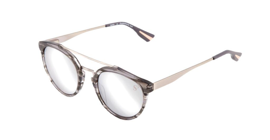 Sylvie Optics   Passionate 4 grey stripes
