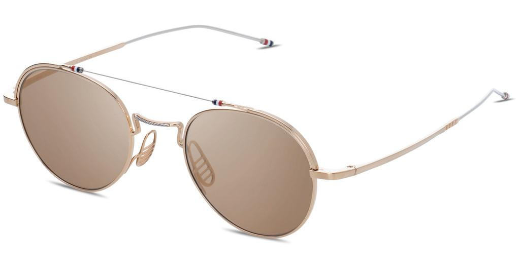 Thom Browne   TBS912 01 Light Brown - ARWhite Gold - Silver