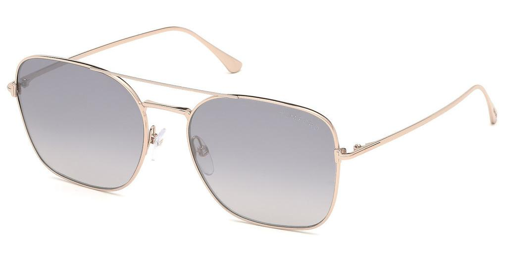 Tom Ford   FT0680 28C grau verspiegeltrosé