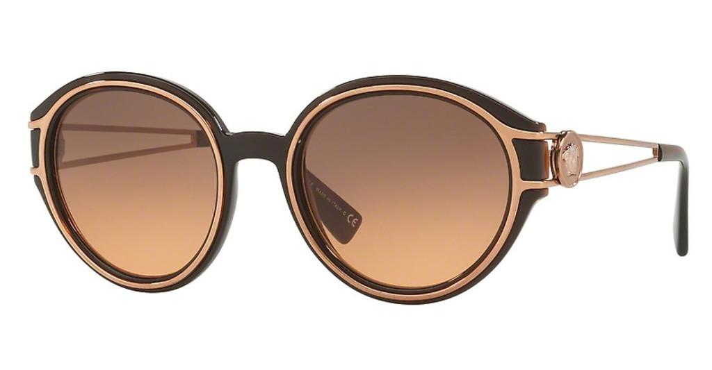 Versace   VE4342 509318 ORANGE GRADIENT LIGHT GREYTRANSPARENT BROWN/PINK GOLD