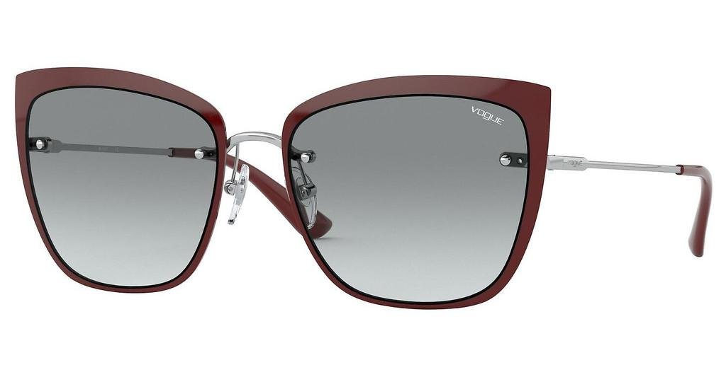 Vogue   VO4158S 323/11 GREY GRADIENTTOP BORDEAUX/SILVER
