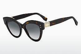 FENDI Fendi Herren Sonnenbrille » FF M0003/S«, braun, 086/QT - braun/grün