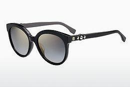 FENDI Fendi Damen Sonnenbrille » FF 0204/S«, schwarz, 5MB/HD - schwarz/grau