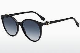FENDI Fendi Damen Sonnenbrille » FF 0287/S«, schwarz, 807/9O - schwarz/grau