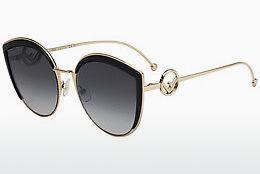 FENDI Fendi Damen Sonnenbrille » FF 0265/S«, schwarz, 807/9O - schwarz/grau