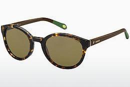 Fossil Damen Sonnenbrille » FOS 2005/P/S«, schwarz, 5IA/Y2 - schwarz/grün