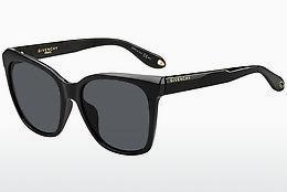 GIVENCHY Givenchy Herren Sonnenbrille » GV 7061/S«, schwarz, 807/QT - schwarz/grün