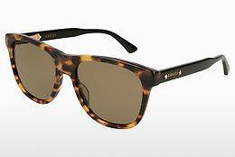 Gucci Herren Sonnenbrille GG0057SK 004, Braun (Avana/Bluee), 56