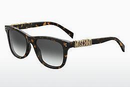Moschino Damen Sonnenbrille » MOS014/F/S«, schwarz, WR7/9O - schwarz/grau