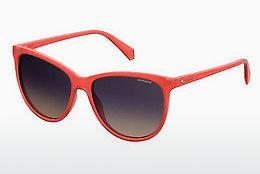 Polaroid Damen Sonnenbrille » PLD 4058/S«, grün, LPP/JR - grün/rot