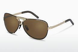 PORSCHE Design Porsche Design Herren Sonnenbrille » P8579«, silberfarben, C - silber/ blau