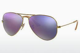 Sonnenbrille Ray-Ban AVIATOR LARGE METAL (RB3025 167/4K) - Braun