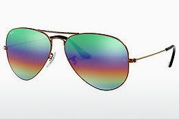 Sonnenbrille Ray-Ban AVIATOR LARGE METAL (RB3025 9018C3) - Braun
