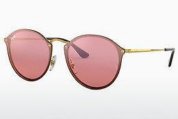 Sonnenbrille Ray-Ban Blaze Round (RB3574N 001/E4) - Gold