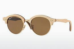 Sonnenbrille Ray-Ban Clubround Wood (RB4246M 117957) - Gold