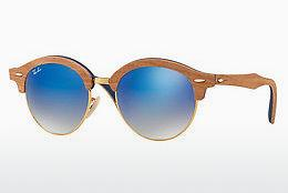 Sonnenbrille Ray-Ban Clubround Wood (RB4246M 11807Q) - Gold