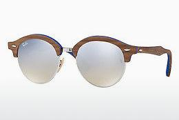 Sonnenbrille Ray-Ban Clubround Wood (RB4246M 12179U) - Silber