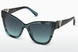 Swarovski Damen Sonnenbrille » SK0147«, blau, 87W - blau/blau