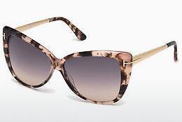 Tom Ford Damen Sonnenbrille »Valesca FT0555«, braun, 52X - braun/blau