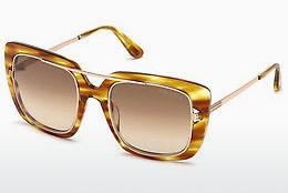 Sonnenbrille Tom Ford FT0619 47F - Braun, Bright