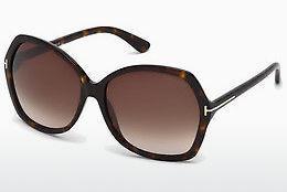 Tom Ford Damen Sonnenbrille »Valesca FT0555«, braun, 52F - braun/braun