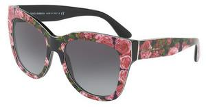 Dolce & Gabbana DG4270 31278G GREY GRADIENTPRINT ROSE ON BLACK