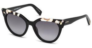 Dsquared2 Damen Sonnenbrille » DQ0277«, grau, 20B - grau/grau