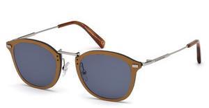 Ermenegildo Zegna Herren Sonnenbrille » EZ0097«, schwarz, 08A - schwarz/grau