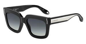 GIVENCHY Givenchy Damen Sonnenbrille » GV 7095/S«, schwarz, 807/9O - schwarz/grau