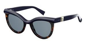 Max Mara Damen Sonnenbrille » MM GRACE«, schwarz, WR7/QT - schwarz/grün