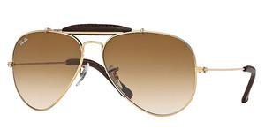 Ray-Ban RB3422Q 001/51 CRYSTAL BROWN GRADIENTARISTA/BROWN LEATHER