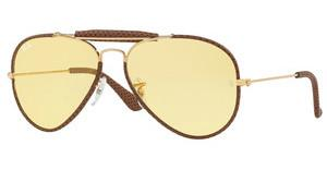 Ray-Ban RB3422Q 90424A YELLOWLEATHER LIGHT BROWN