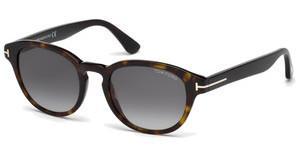 Tom Ford Sonnenbrille »Von Bulow FT0521«, gelb, 39B - gelb/grau