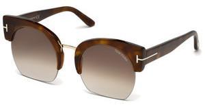 Tom Ford Damen Sonnenbrille »Savannah FT0552«, schwarz, 01W - schwarz/blau