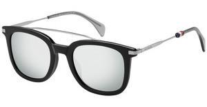 Tommy Hilfiger Herren Sonnenbrille TH 1515/S QT SX7, Braun (Lt Havana/Grn Green), 49