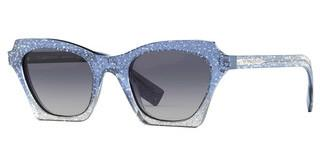 Burberry BE4283 37724L LIGHT GREY GRADIENT BLUETOP GLITTER ON GRADIENT BLUE